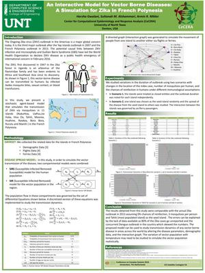 Primary view of object titled 'An Interactive Model for Vector Borne Diseases: A Simulation for Zika in French Polynesia'.