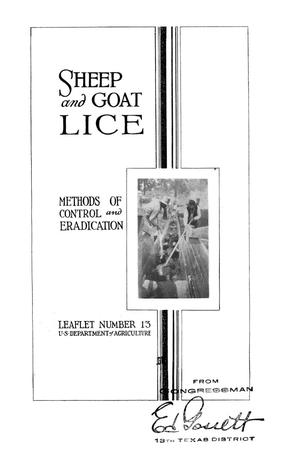 Primary view of object titled 'Sheep and Goat Lice: Methods of Control and Eradication.'.