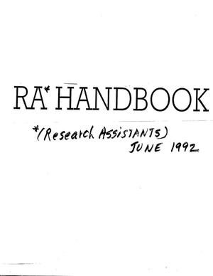 Primary view of object titled 'Research Assistants Handbook'.