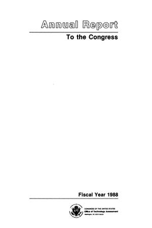 Primary view of object titled 'Annual Report to the Congress, Fiscal Year 1988'.