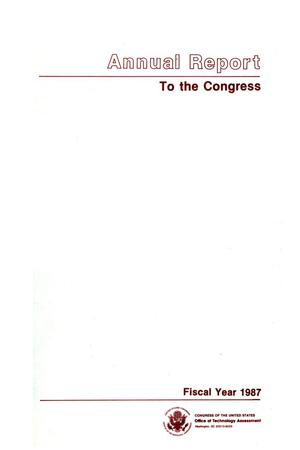 Annual Report to the Congress, Fiscal Year 1987