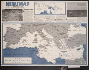 Primary view of object titled 'Newsmap. Monday, June 21, 1943 : week of June 10 to June 17, 197th week of the war, 79th week of U.S. participation'.