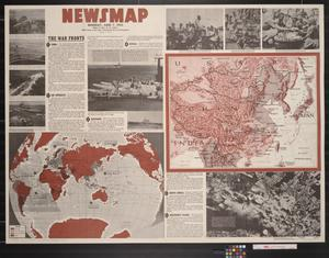 Primary view of Newsmap. Monday, June 7, 1943 : week of May 27 to June 3, 195th week of the war, 77th week of U.S. participation