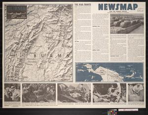 Primary view of object titled 'Newsmap. For the Armed Forces. 240th week of the war, 122nd week of U.S. participation'.