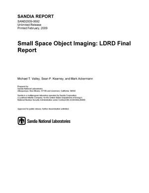 Primary view of object titled 'Small space object imaging : LDRD final report.'.
