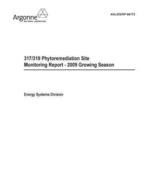 Primary view of object titled '317/319 Phytoremediation site monitoring report - 2009 growing season : final report.'.