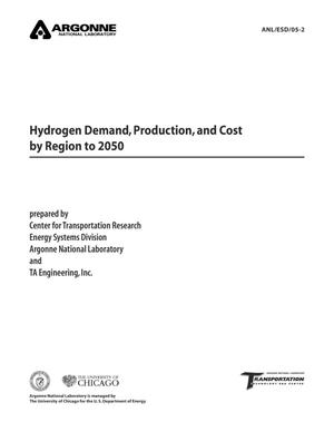 Primary view of object titled 'Hydrogen demand, production, and cost by region to 2050.'.