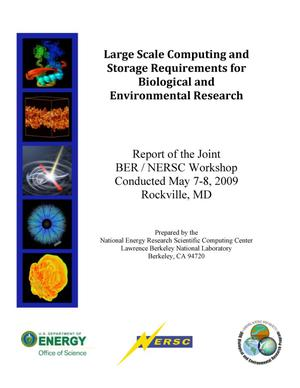 Primary view of object titled 'Large Scale Computing and Storage Requirements for Biological and Environmental Research'.