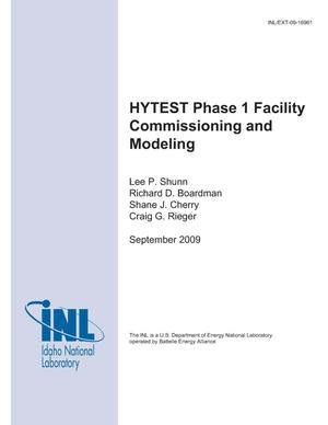 Primary view of object titled 'HYTEST Phase I Facility Commissioning and Modeling'.