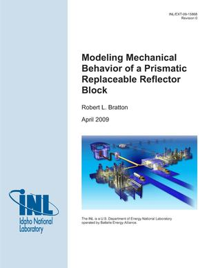 Primary view of object titled 'Modeling Mechanical Behavior of a Prismatic Replaceable Reflector Block'.