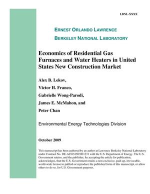 Primary view of object titled 'Economics of residential gas furnaces and water heaters in United States new construction market'.
