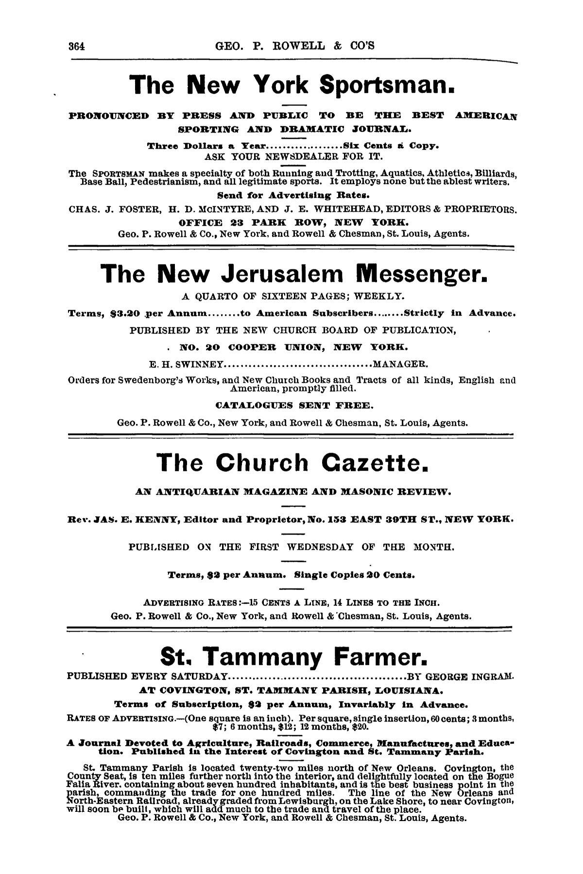 Geo  P  Rowell & Co's American Newspaper Directory