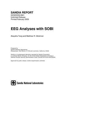 Primary view of object titled 'EEG analyses with SOBI.'.