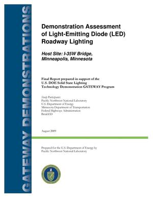 Primary view of object titled 'Demonstration Assessment of Light-Emitting Diode (LED) Roadway Lighting at the I-35W Bridge, Minneapolis, MN'.