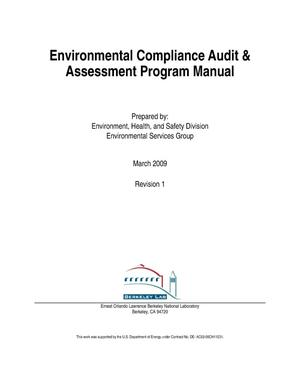 Primary view of object titled 'Environmental Compliance Audit& Assessment Program Manual'.