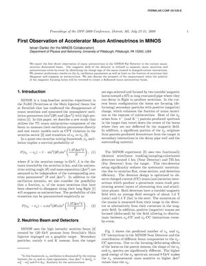 Primary view of object titled 'First Observation of Accelerator Muon Antineutrinos in MINOS'.