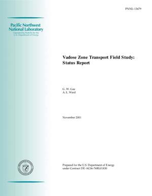 Primary view of object titled 'Vadose Zone Transport Field Study: Status Report'.