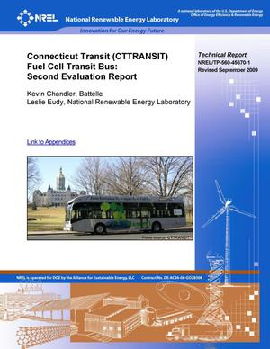 Primary view of object titled 'Connecticut Transit (CTTRANSIT) Fuel Cell Transit Bus: Second Evaluation Report and Appendices'.