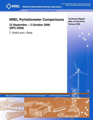 Primary view of object titled 'NREL Pyrheliometer Comparisons: 22 September - 3 October 2008'.