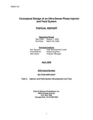 Primary view of object titled 'Conceptual Design of an Ultra-Dense Phase Injector and Feed System'.