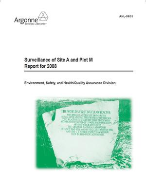 Primary view of object titled 'Surveillance of Site A and Plot M, Report for 2008.'.