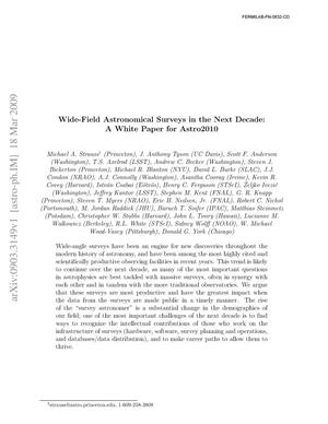 Primary view of object titled 'Wide-Field Astronomical Surveys in the Next Decade'.