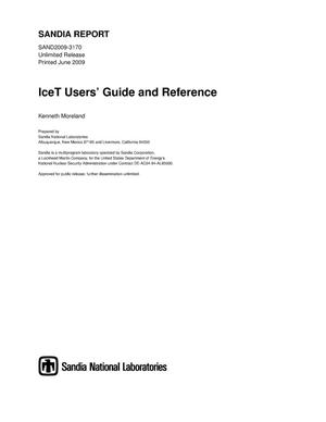 Primary view of object titled 'IceT users' guide and reference.'.
