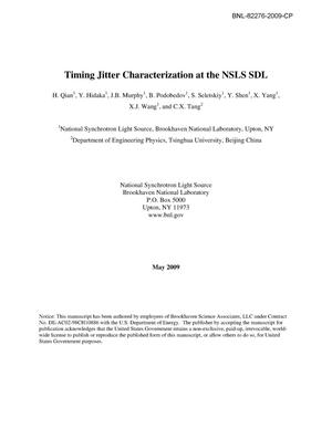 Primary view of object titled 'Timing Jitter Characterization at the NSLS SDL'.