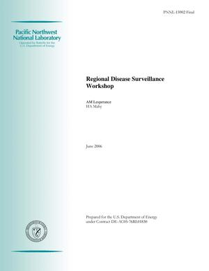 Primary view of object titled 'Regional Disease Surveillance Meeting - Final Paper'.