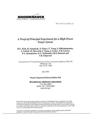 Primary view of object titled 'A Proof-of-Principal Experiment for a High-Power Target System'.
