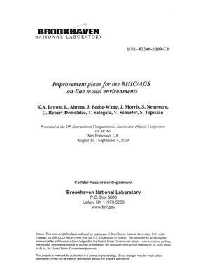 Primary view of object titled 'Improvement plans for the RHIC/AGS on-line model environments'.