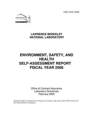 Primary view of object titled 'Environment, Safety, and Health Self-Assessment Report, Fiscal Year 2008'.
