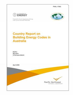 Primary view of object titled 'Country Report on Building Energy Codes in Australia'.