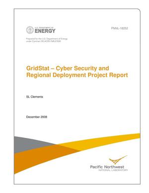 Primary view of object titled 'GridStat – Cyber Security and Regional Deployment Project Report'.