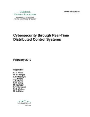Primary view of object titled 'Cybersecurity through Real-Time Distributed Control Systems'.