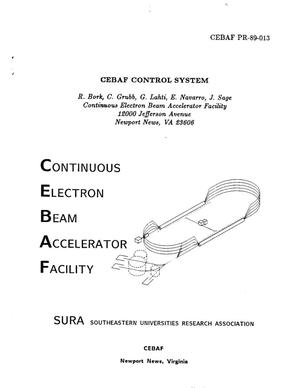 Primary view of object titled 'CEBAF Control System'.