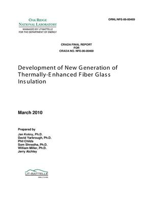 Primary view of object titled 'Development of New Generation of Thermally-Enhanced Fiber Glass Insulation'.