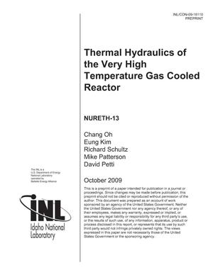Primary view of object titled 'Thermal Hydraulics of the Very High Temperature Gas Cooled Reactor'.
