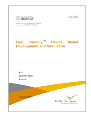 Primary view of object titled 'Grid FriendlyTM Device Model Development and Simulation'.
