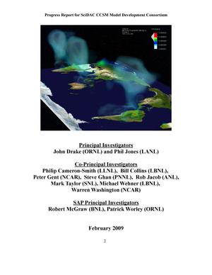 Progress Report 2008: A Scalable and Extensible Earth System Model