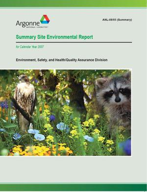 Primary view of object titled 'Argonne National Laboratory summary site environmental report for calendar year 2007.'.
