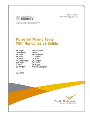 Primary view of object titled 'Pulse Jet Mixing Tests With Noncohesive Solids'.
