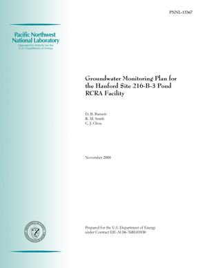 Primary view of object titled 'Groundwater Monitoring Plan for the Hanford Site 216-B-3 Pond RCRA Facility'.