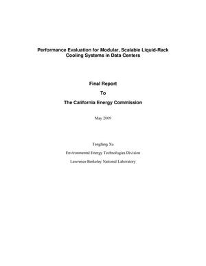 Primary view of object titled 'Performance Evaluation for Modular, Scalable Liquid-Rack Cooling Systems in Data Centers'.