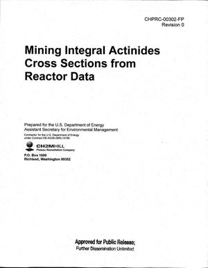 Primary view of object titled 'MINING INTEGRAL ACTINIDES CROSS SECTIONS FROM REACTOR DATA'.