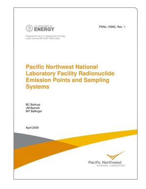 Primary view of object titled 'Pacific Northwest National Laboratory Facility Radionuclide Emission Points and Sampling Systems'.