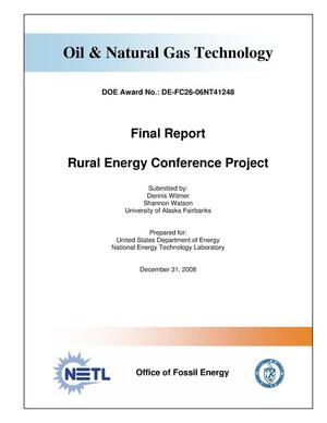 Primary view of object titled 'Rural Energy Conference Project'.