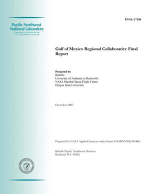 Primary view of object titled 'Gulf of Mexico Regional Collaborative Final Report'.