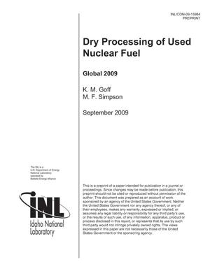 Primary view of object titled 'Dry Processing of Used Nuclear Fuel'.