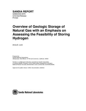 Primary view of object titled 'Overview of geologic storage of natural gas with an emphasis on assessing the feasibility of storing hydrogen.'.
